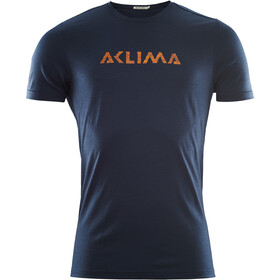 Aclima LightWool Logo T-Shirt Uomo, navy blazer